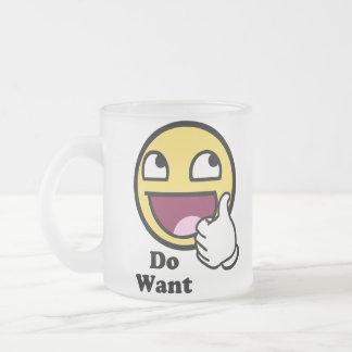 Voulez le smiley impressionnant de visage mug