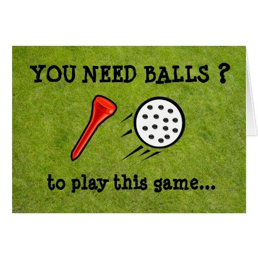 Vous avez besoin de la carte drôle de golf de boul