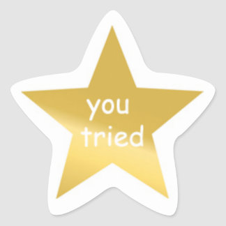 Vous avez essayé l'autocollant sticker étoile