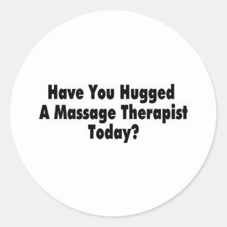 Vous avez étreints un thérapeute de massage sticker rond