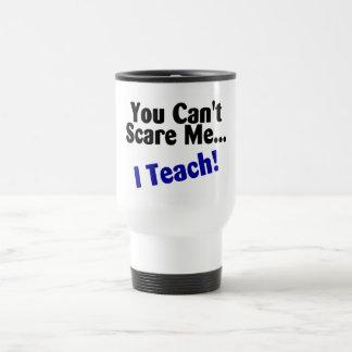 Vous biseautés m'effrayez que j'enseigne le noir e mug de voyage en acier inoxydable
