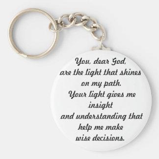 Vous cher Dieu Porte-clé Rond