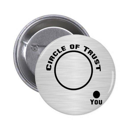 Vous en dehors du cercle de la confiance badges