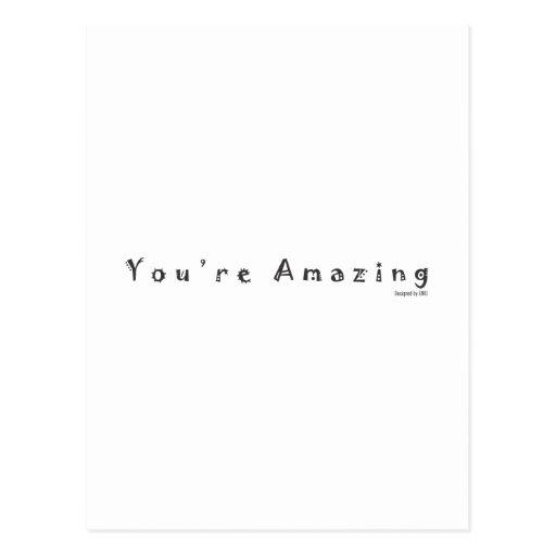 Vous êtes extraordinaires carte postale