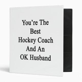 Vous êtes le meilleur entraîneur d'hockey et un classeur vinyle