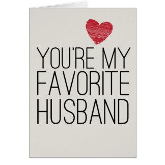 Vous êtes ma carte drôle d'amour de mari préféré