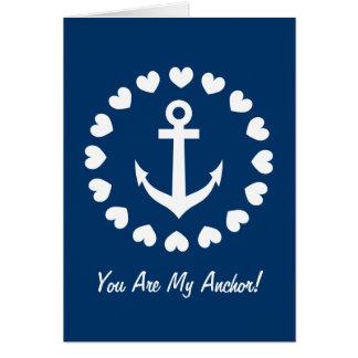 Vous êtes mon amour nautique de la carte de voeux