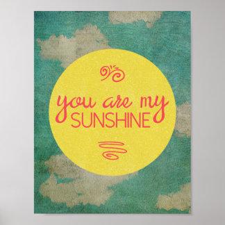 Vous êtes mon soleil poster