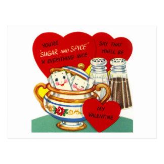 Vous êtes sucre et épice carte postale