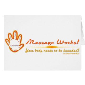 Vous malaxez un massage ! carte de vœux