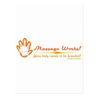 Vous malaxez un massage ! cartes postales