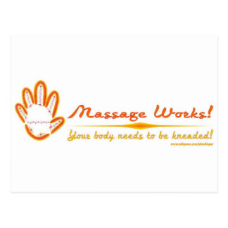 Vous malaxez un massage ! carte postale