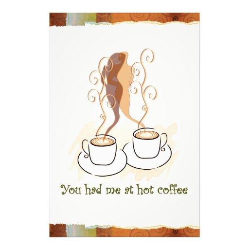 Vous m'avez eu au café chaud impression photographique