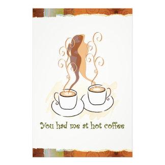 Vous m'avez eu au café chaud impression photo