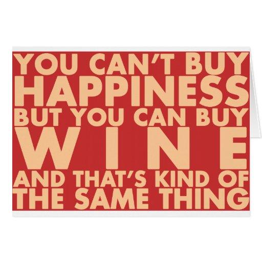 Vous ne pouvez pas acheter le bonheur, mais vous p carte