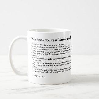 Vous savez que vous êtes une infirmière correction mugs à café