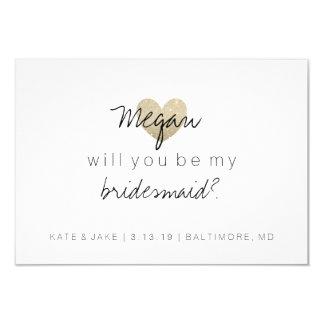 Vous serez ma carte de demoiselle d'honneur - 2 carton d'invitation 8,89 cm x 12,70 cm