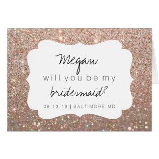 Vous serez ma carte de demoiselle d'honneur - or