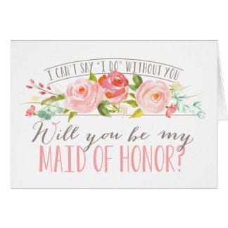 Vous serez ma domestique de demoiselle d'honneur carte de correspondance