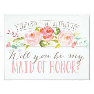 Vous serez ma domestique de demoiselle d'honneur carton d'invitation 10,79 cm x 13,97 cm