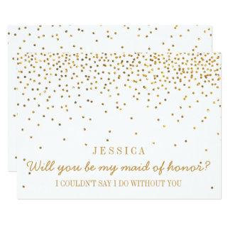 Vous serez ma domestique des confettis vintages carton d'invitation  12,7 cm x 17,78 cm
