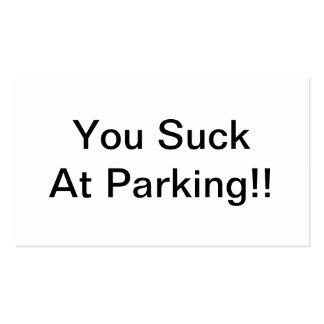 Vous sucez au stationnement cartes de visite professionnelles