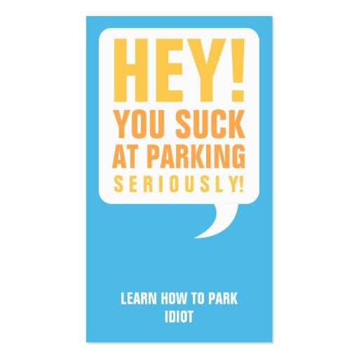 Vous sucez au stationnement modèles de cartes de visite