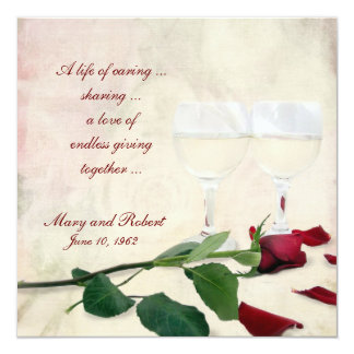 Vow Renewal on Wedding Anniversary Card