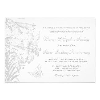 Vow Renewal Silver 25th Wedding Anniversary Card