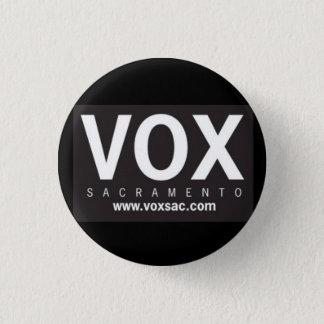 VOX_LogoBLK_HR 1 Inch Round Button