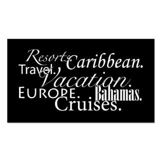 Voyage dans le noir/blanc modèles de cartes de visite