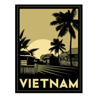 voyage d'art déco du Vietnam Asie du Sud-Est rétro Carte Postale