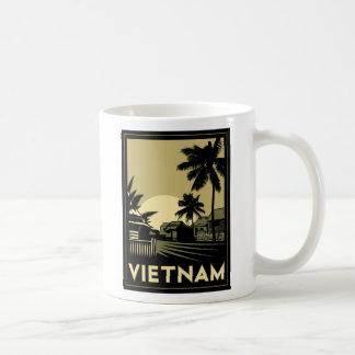 voyage d'art déco du Vietnam Asie du Sud-Est rétro Mug À Café