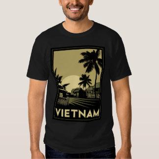 voyage d'art déco du Vietnam Asie du Sud-Est rétro Tshirts