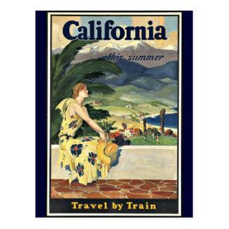 Voyage de la Californie par le poster vintage de t Carte Postale