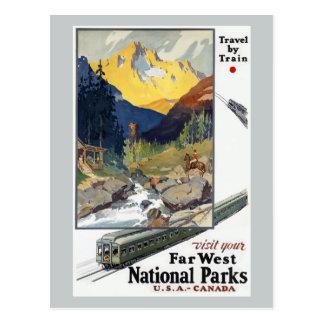 Voyage de parcs nationaux par chemin de fer cartes postales
