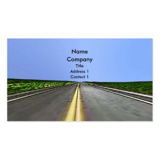 Voyage de route - affaires carte de visite standard