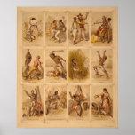 Voyage d'un esclave par une plus pleine reine 1863 poster