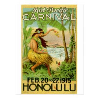 Voyage hawaïen vintage cartes postales