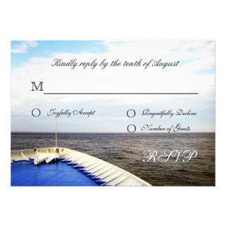 Voyage of Love Cruiseship Destination Wedding RSVP Personalized Invitations