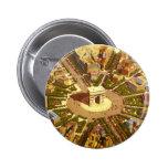 Voyage vintage, Arc de Triomphe Paris France Macaron Rond 5 Cm