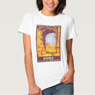 Voyage vintage, Colisé, Italien de Rome Italie T-shirt