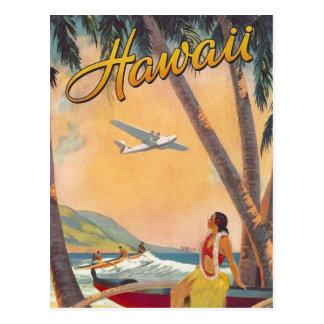 Voyage vintage d Hawaï Cartes Postales
