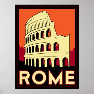 voyage vintage de l'Europe de Colisé de Rome Itali Posters