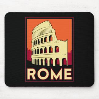 voyage vintage de l'Europe de Colisé de Rome Itali Tapis De Souris