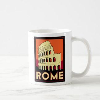 voyage vintage de l'Europe de Colisé de Rome Itali Tasse