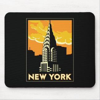 voyage vintage de New York Etats-Unis Etats-Unis r Tapis De Souris