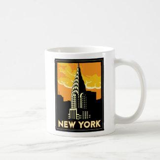 voyage vintage de New York Etats-Unis Etats-Unis r Mug Blanc