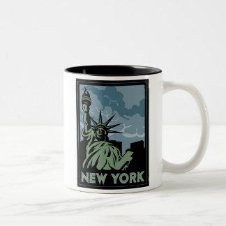 voyage vintage de New York Etats-Unis Etats-Unis r Tasse À Café