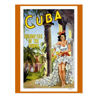 Voyage vintage du Cuba Cartes Postales